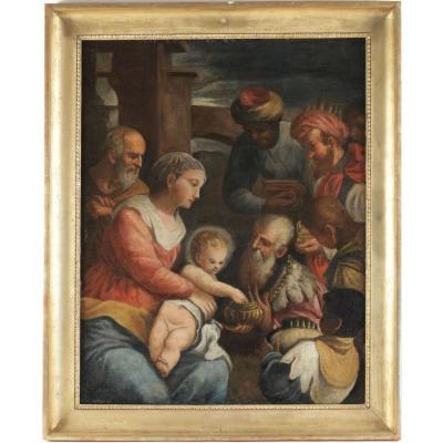 Adoration des Mages, école Vénitienne fin 17ème-début 18ème