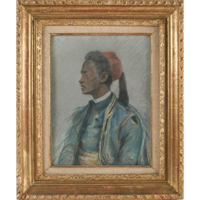 Pastel: The Zouave Of Henri Cain (1857-1937)
