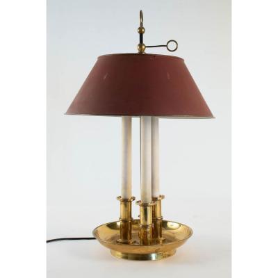 Lampe bouillotte de style Empire à trois lumières
