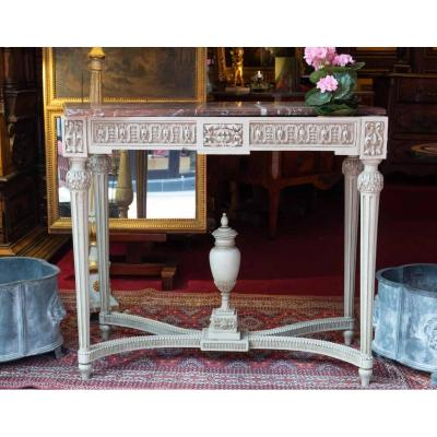 19th Century Planter With Its Base And Marble