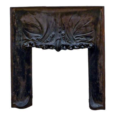 Hector Guimard, Rare Manteau De Cheminée En Fonte - Art Nouveau.