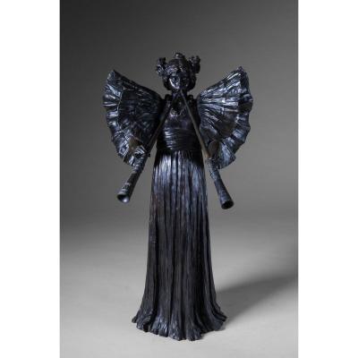 Agathon Léonard, Bronze Sculpture. Signed, Circa 1902 - Large Model - Art Nouveau
