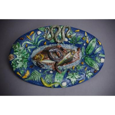 Majolica - Victor And Achille Barbizet, Ceramics In Barbotine Suite Palissy - 1865/70 - Art Nouveau
