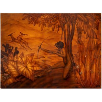 Gaston Suisse, Laque - Chasse Aux Antilopes. Circa 1922 - Art Déco