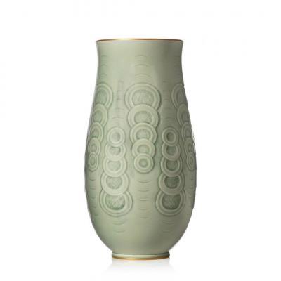Manufacture De Sèvres, Ovoid Vase With Flared Neck - 1940