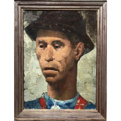 Portrait Of Un Mineur - Marcel Delmotte
