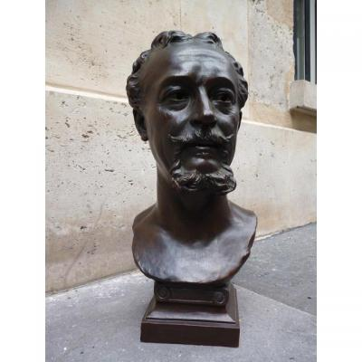 Buste en bronze - Jules Franceschi