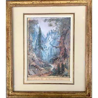 TOUDOUZE Gustave - La Gorge Aux Loups, Le Freischutz De Weber