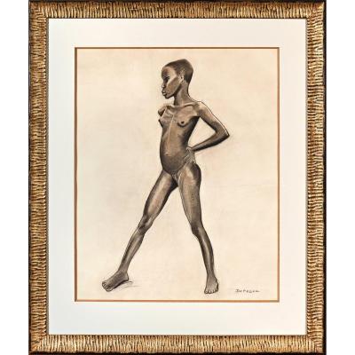 "Arthur DUPAGNE (1895-1961)  -  ""Jeune Mangbetu"""