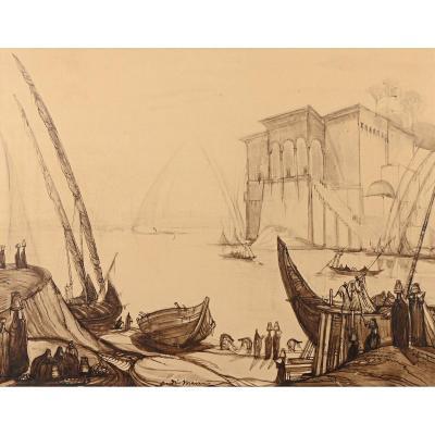 """André MAIRE (1898-1984) - """"Vue de la basse Egypte"""""""