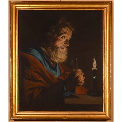 """""""Saint Pierre Repentant"""" d'après Mattias STOMER (1600-1650)"""