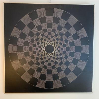 Oeuvre cinétique par Carlo Forcolini 1974
