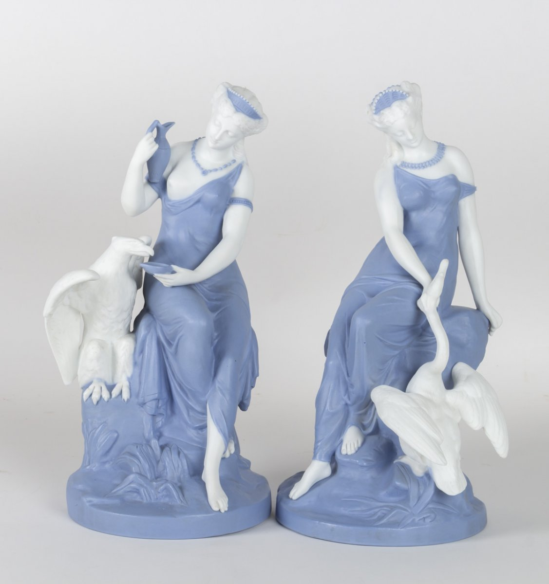 Pair Of Biscuits: Leda And The Swan, Leda And The Eagle 1870