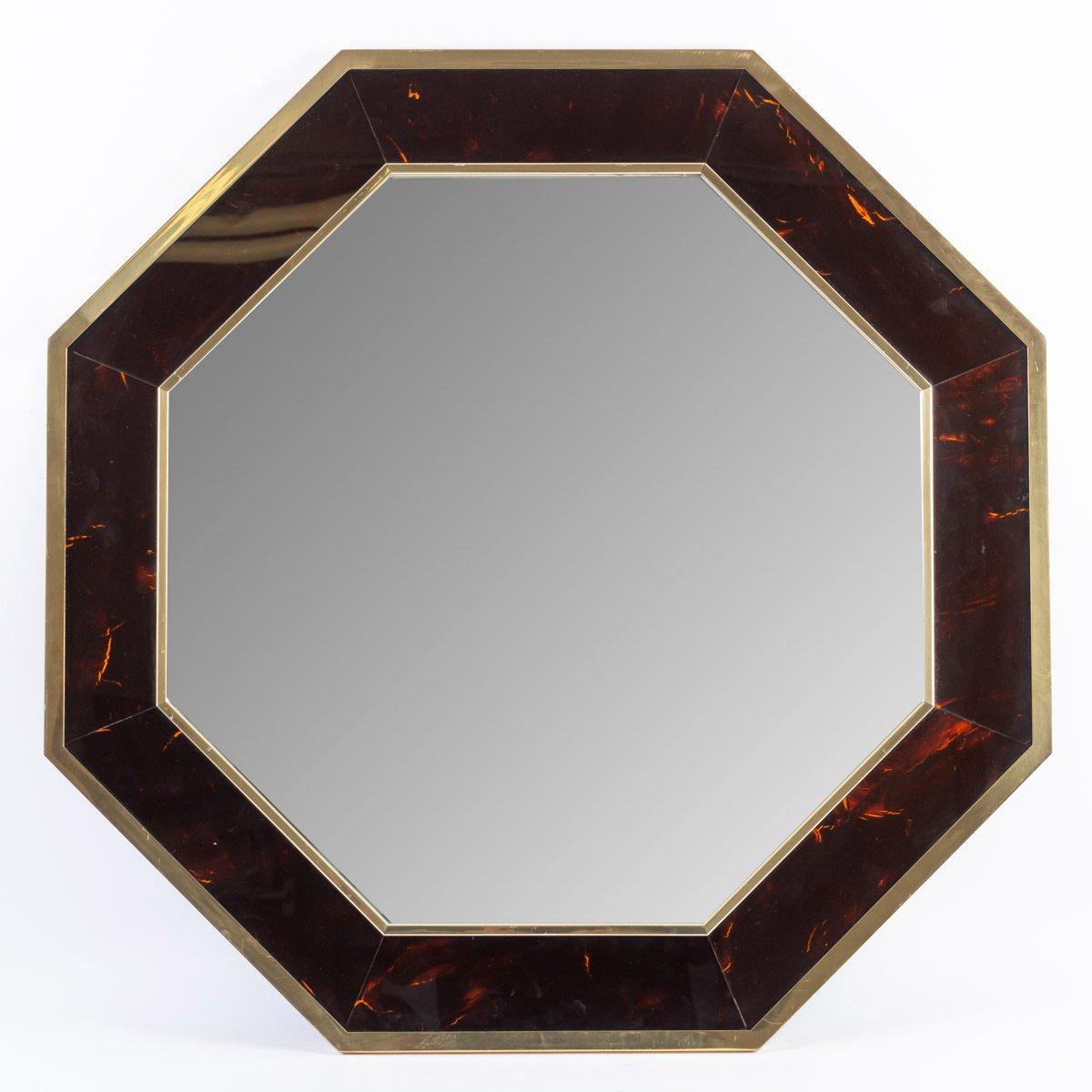 1960s Octagonal Mirror