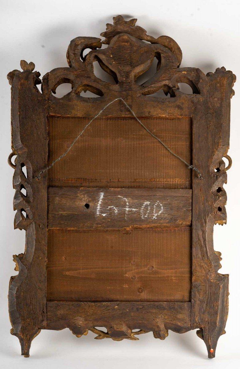 Miroir LOUIS  XVI        en bois doré-photo-2