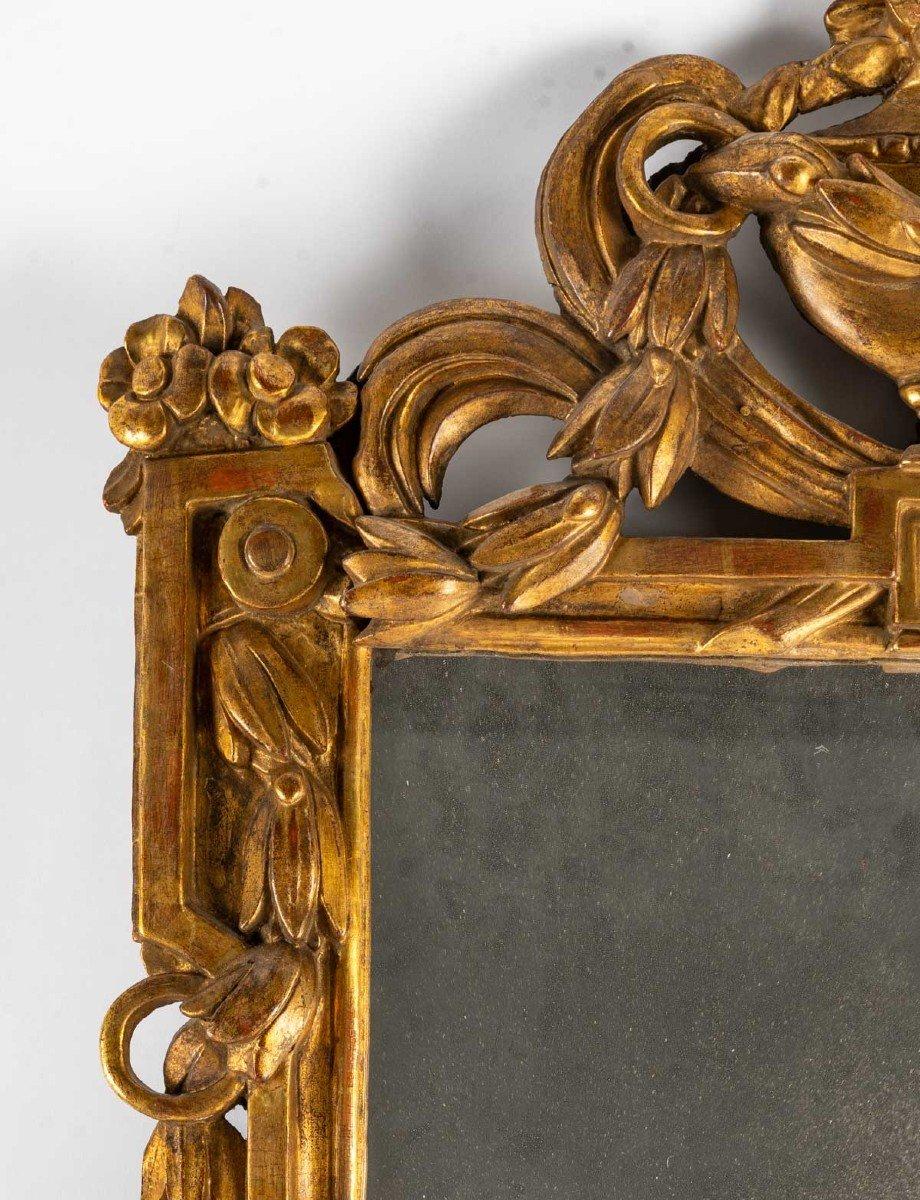 Miroir LOUIS  XVI        en bois doré-photo-4