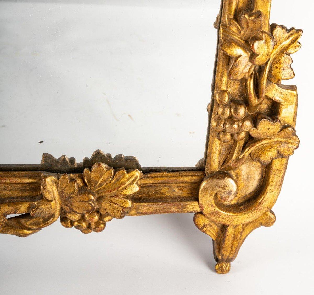 Miroir LOUIS  XVI        en bois doré-photo-1
