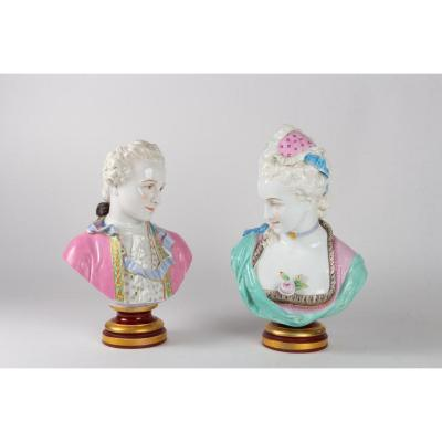 Pair Of Busts Second Half Of The 19th Century By Vion And Baury