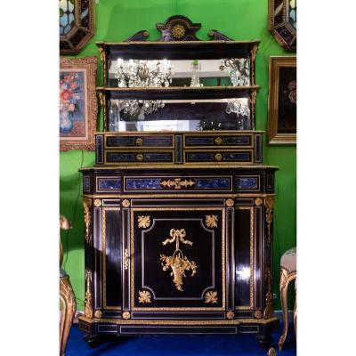 Meuble en ébène à dècor lapis lazuli (Napoléon III )