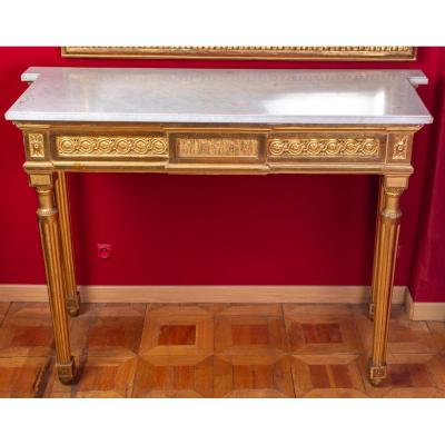 Louis XVI Console In Gilded Wood