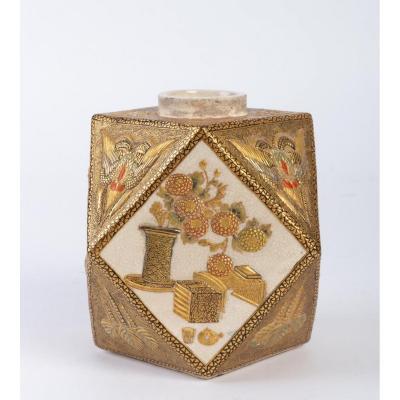 Petit Vase En Faîence De  Satsuma  (japon ) époque Meiji