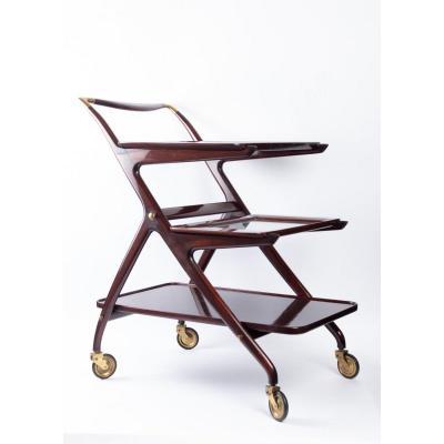 Chariot de bar par Ico Parisi 1950 pour De Baggis