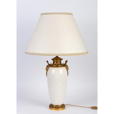 White Lamp With Bronze China XIX