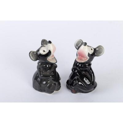 Mickey Mouse 1940 Salt And Pepper Shaker