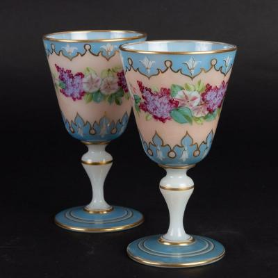 Two 19th Century Opaline Glasses (1860)