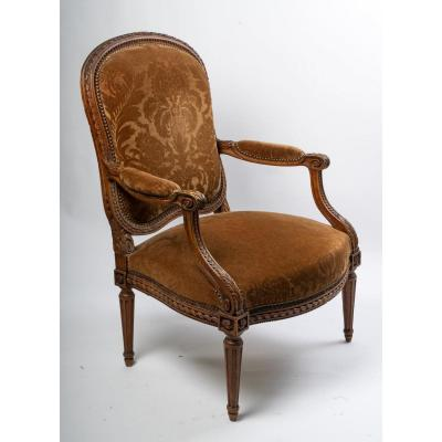 Queen's Armchair Transition Style (louis XV Louis XVI) 19th
