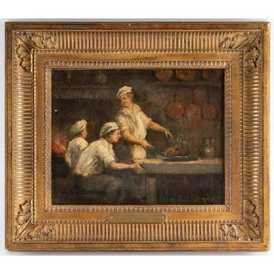 Three Cooks French School XIXth