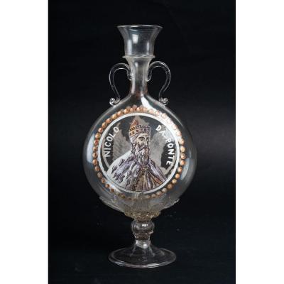"""Vase Venise :  """"Le Doge Nicolo Da Ponte+Le Lion ailé de Venise """" (1798/1806)"""
