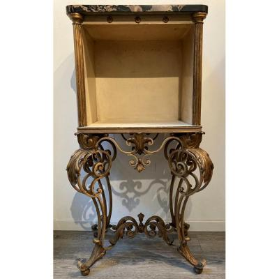 1940s Wrought Iron Cabinet