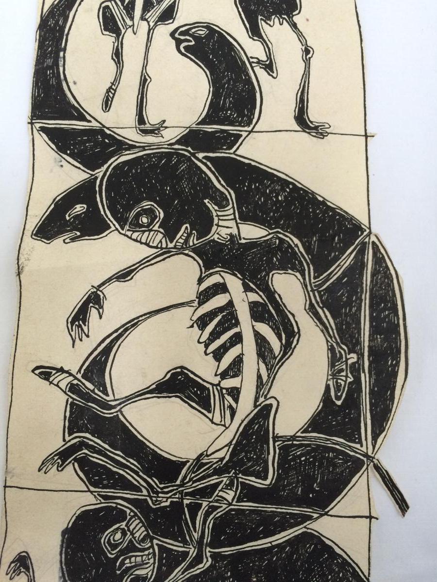 Jean Michel Basquiat Encre Sur Papier-photo-3