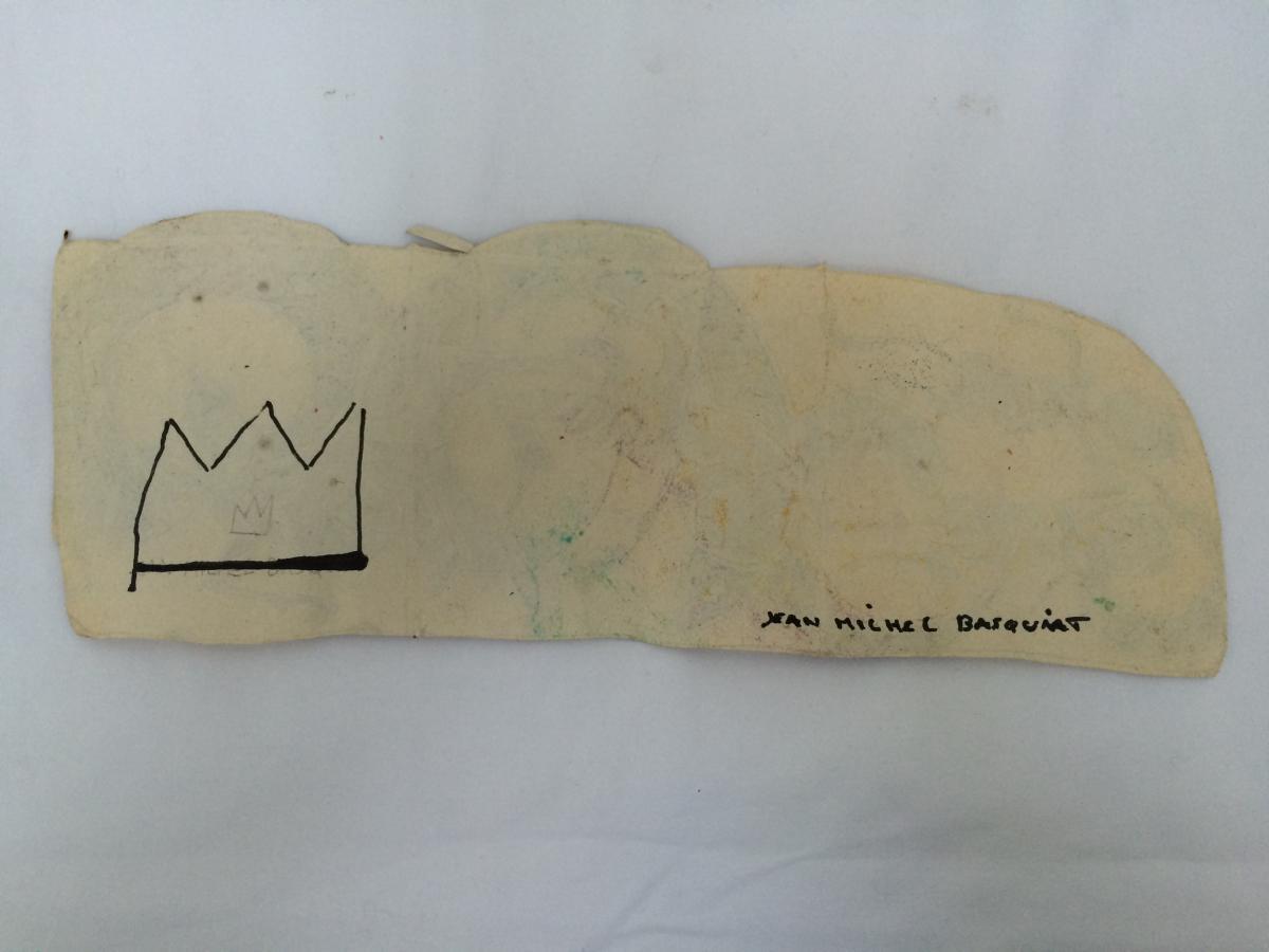 Jean Michel Basquiat Encre Sur Papier-photo-1