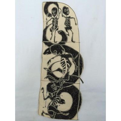 Jean Michel Basquiat Encre Sur Papier