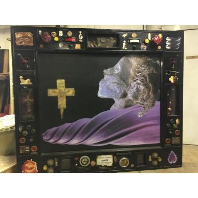 Benoit Huot Sculpture Tableau religion chamane