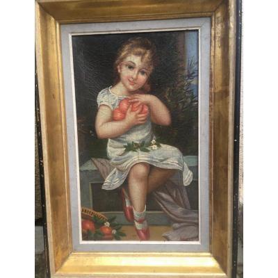 Léon Devos Peintre Peinture Jeune Fille Peintre Belge Belgique