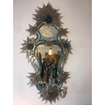 Miroir Glace Vénitienne Italie Verrerie