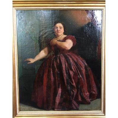 Charles Revel Painting Painter Lyonnais Lyon Woman Portrait Great Painter