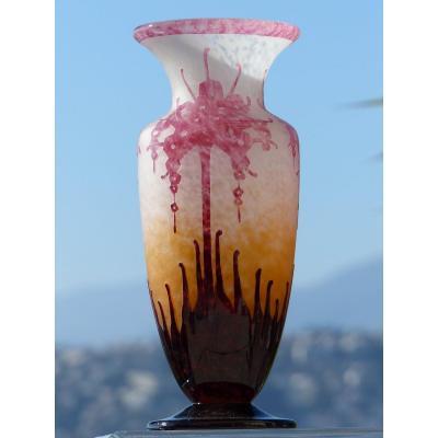Le Verre Français Schneider - Vase Art Deco