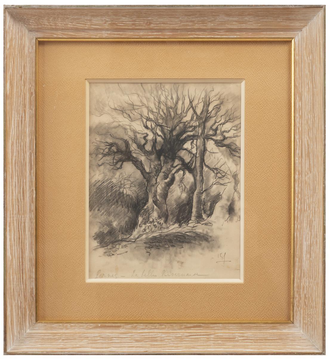 Paul-elie Gernez (1888-1948), La Belle Nivernaise, Lavis Signé