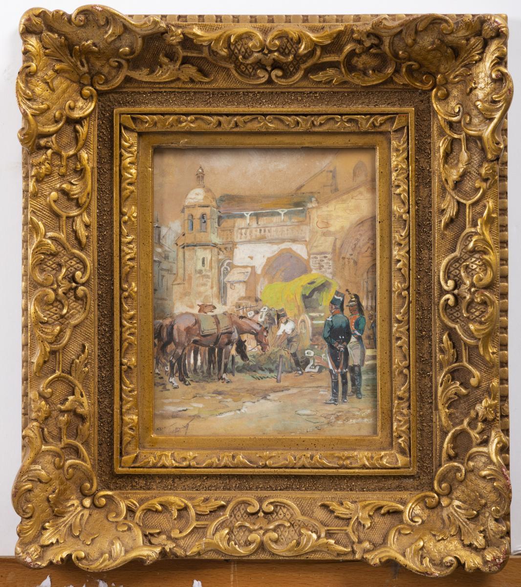 Maurice Toussaint, (1882-1974), Gouache, Grenadiers