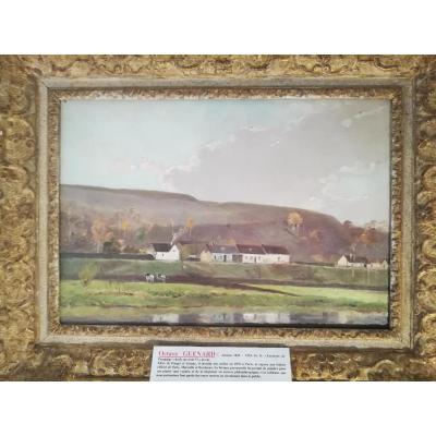 "Octave Guenard: Huile Sur Toile Vers 1880. ""environs De Piquigny"""""