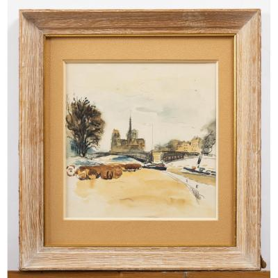 Paul-elie Gernez (1888-1948), Notre Dame De Paris, l'île Saint-louis