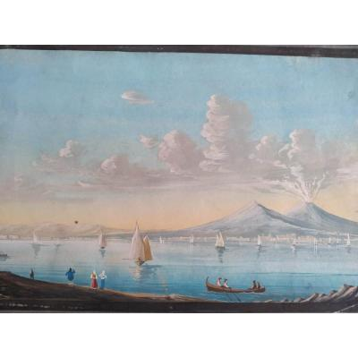 Gouache Napolitaine Vers 1820