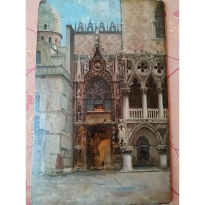 Porche d'église à Venise