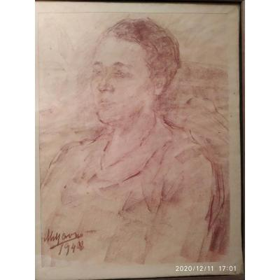 Portrait Of Woman By Marcelle Gallois - Mania Mavro