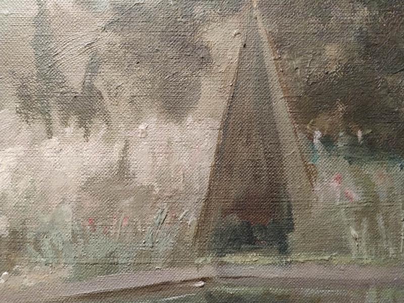 Landscape Oil On Canvas By Marie Louguinine Volkonski-photo-2