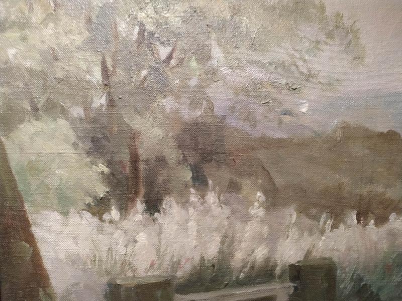 Landscape Oil On Canvas By Marie Louguinine Volkonski-photo-4